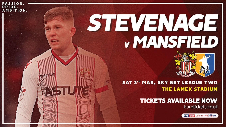 Don't miss Stevenage v Stags on Saturday - News ...